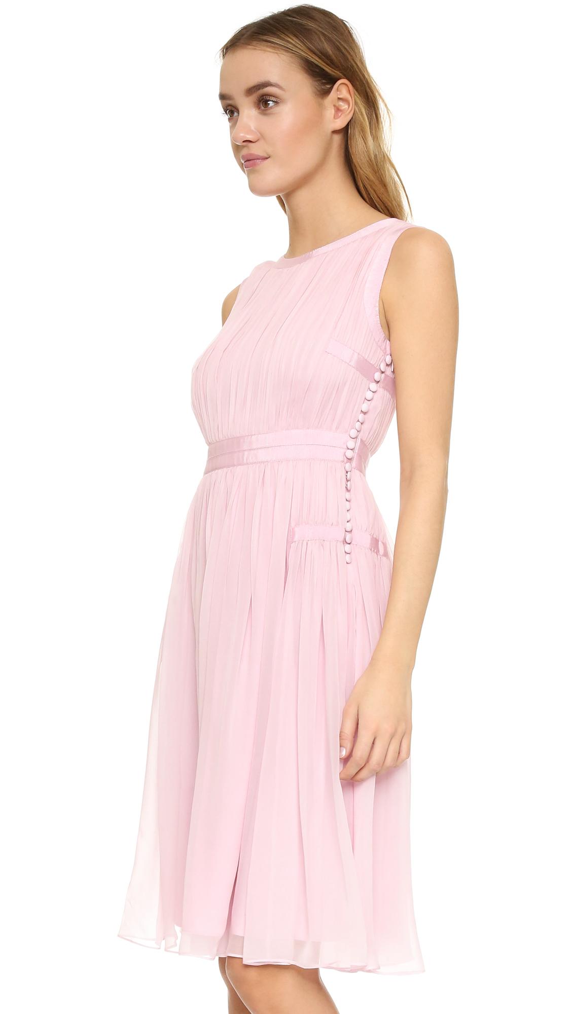 Lyst - Diane Von Furstenberg Letty Dress in Pink