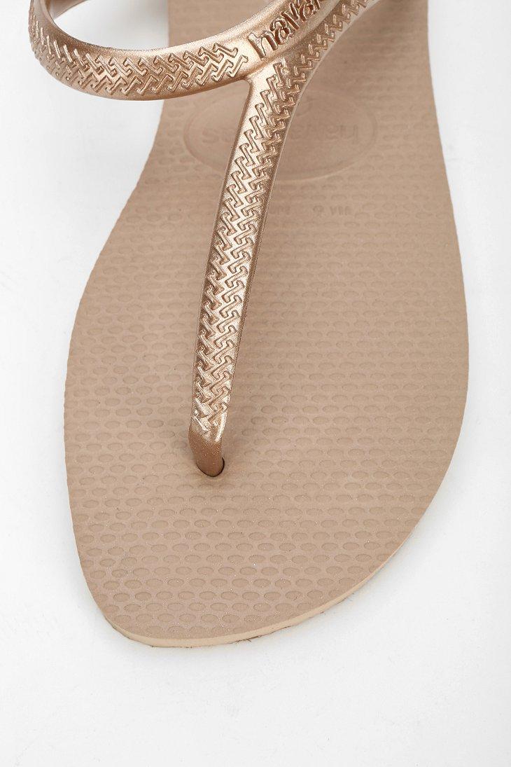 c4fd73b23c48 Lyst - Havaianas Flash Anklewrap Thong Sandal in Metallic