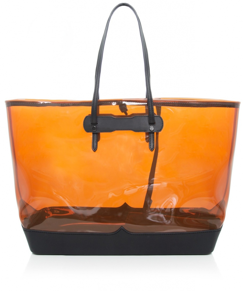 hunter original clear tote bag in yellow mustard lyst. Black Bedroom Furniture Sets. Home Design Ideas