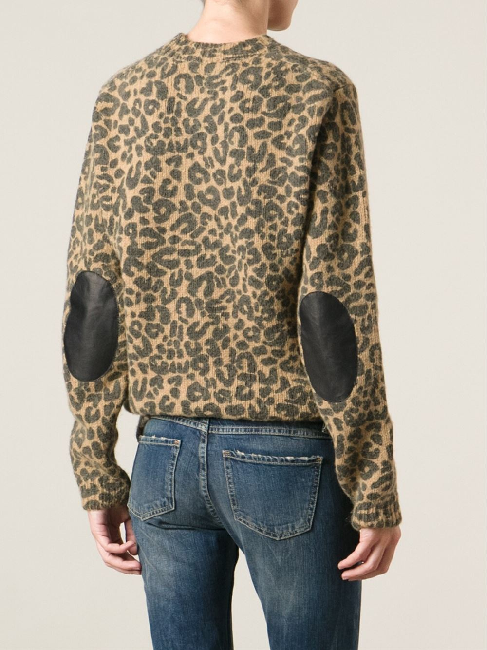 7c66f65e8a20 Each x Other Leopard Print Sweater in Brown - Lyst