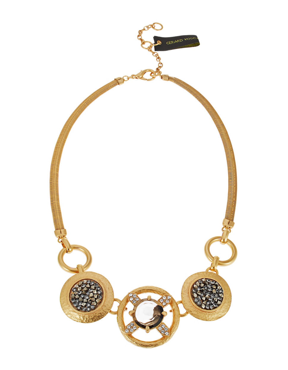 gerard yosca snake chain necklace in gold for lyst