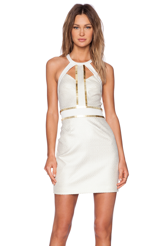 Sass and bide dress white gold