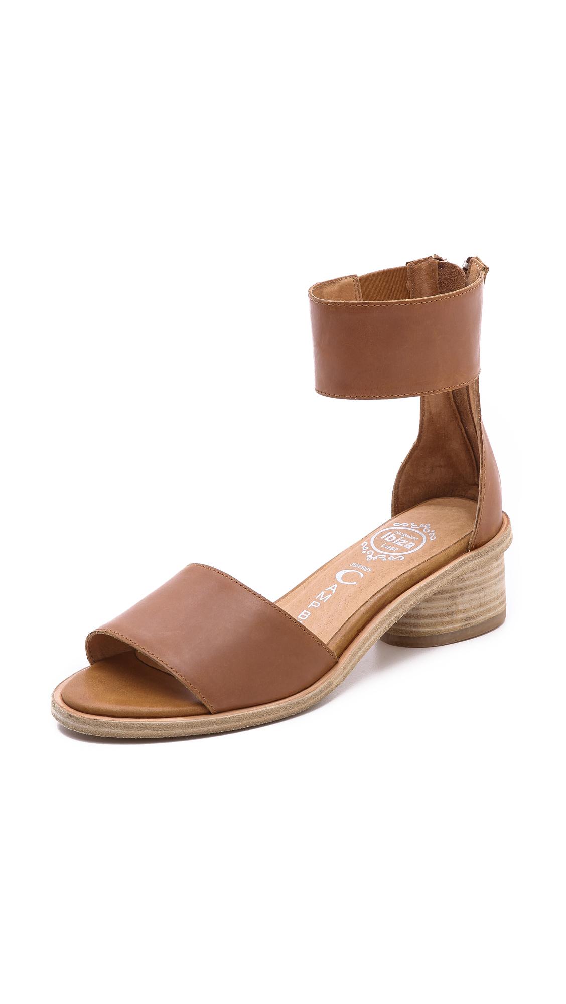 Jeffrey Campbell Borgia Low Heel Sandals In Brown Tan Lyst