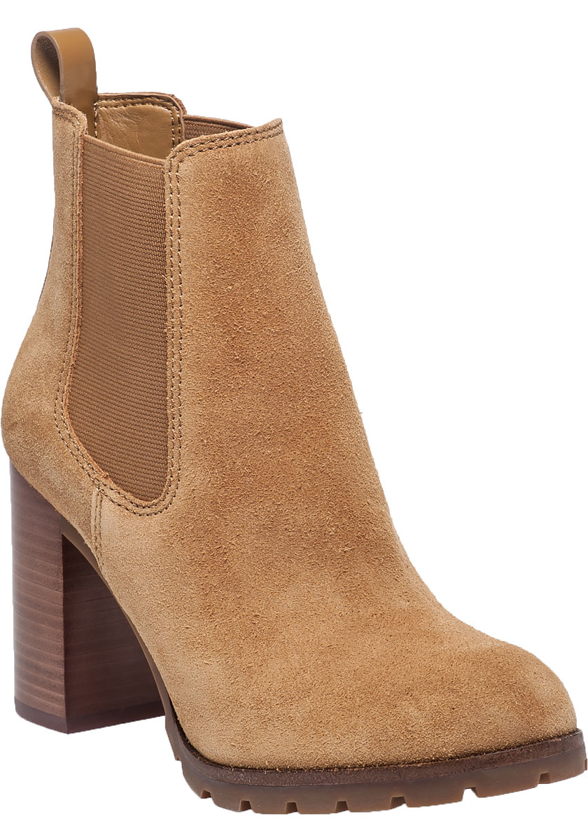 b1f67a892f1 Lyst - Tory Burch Stafford Suede Ankle Boots in Brown