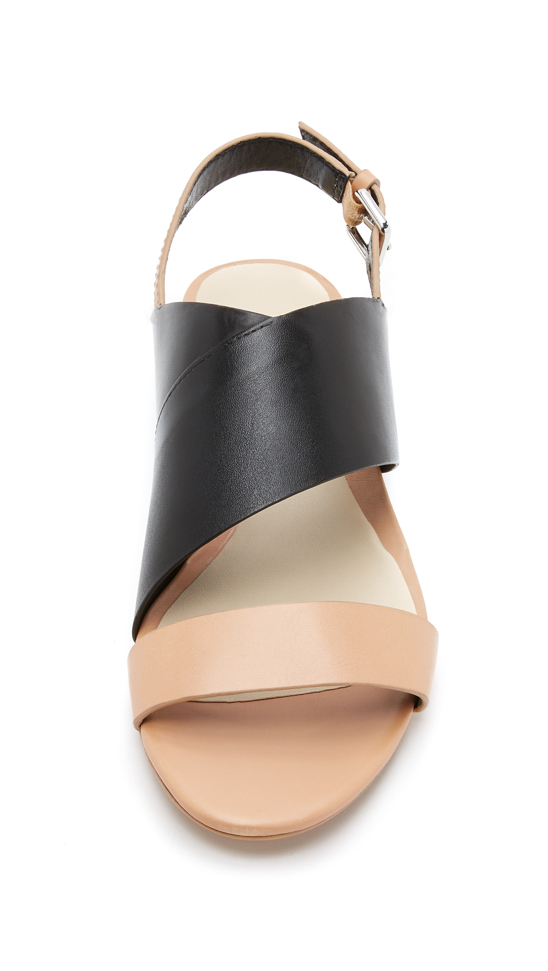 3 1 Phillip Lim Martini Open Flat Sandals In Black Lyst