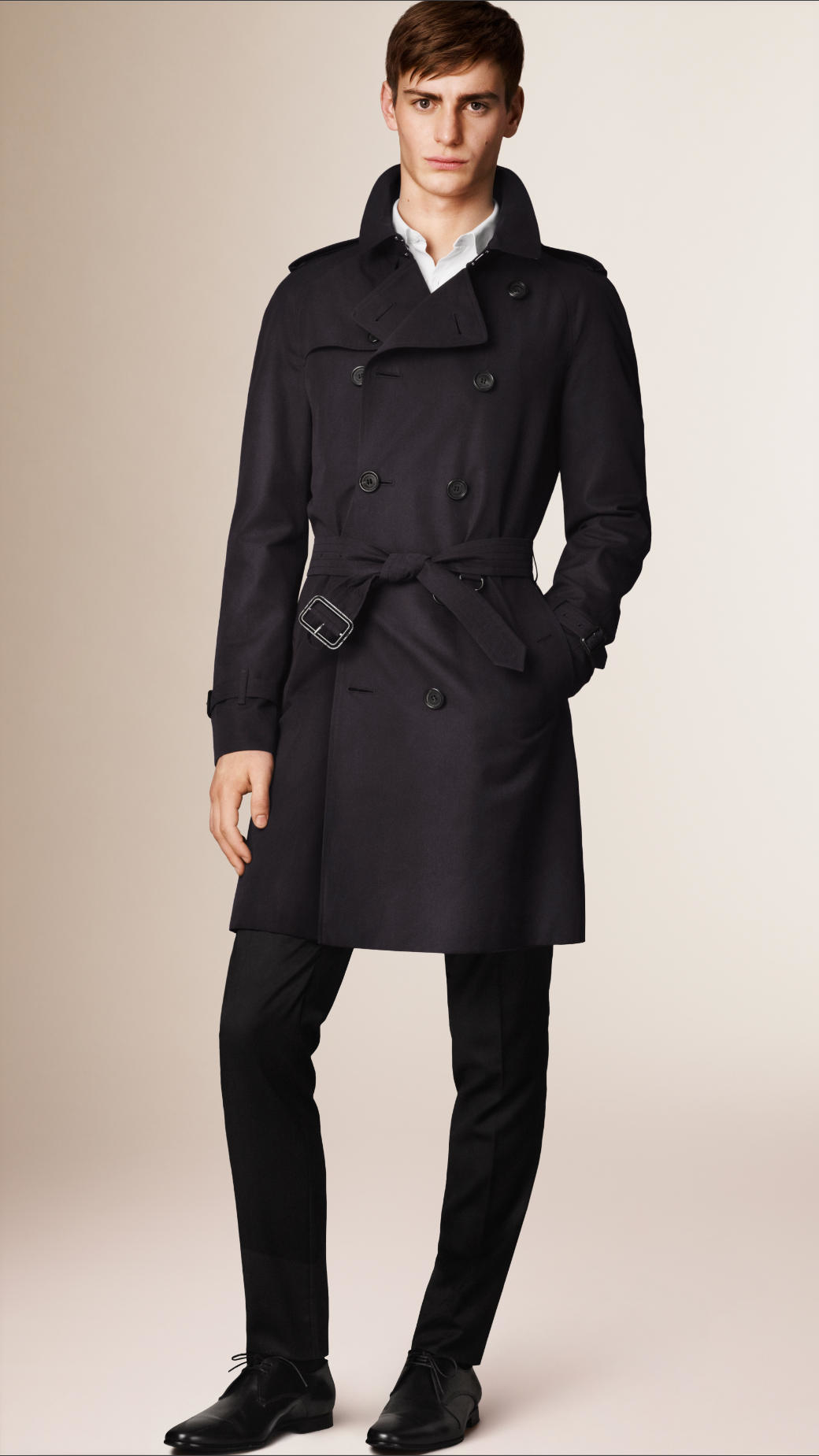 burberry the wiltshire long heritage trench coat in black for men lyst. Black Bedroom Furniture Sets. Home Design Ideas