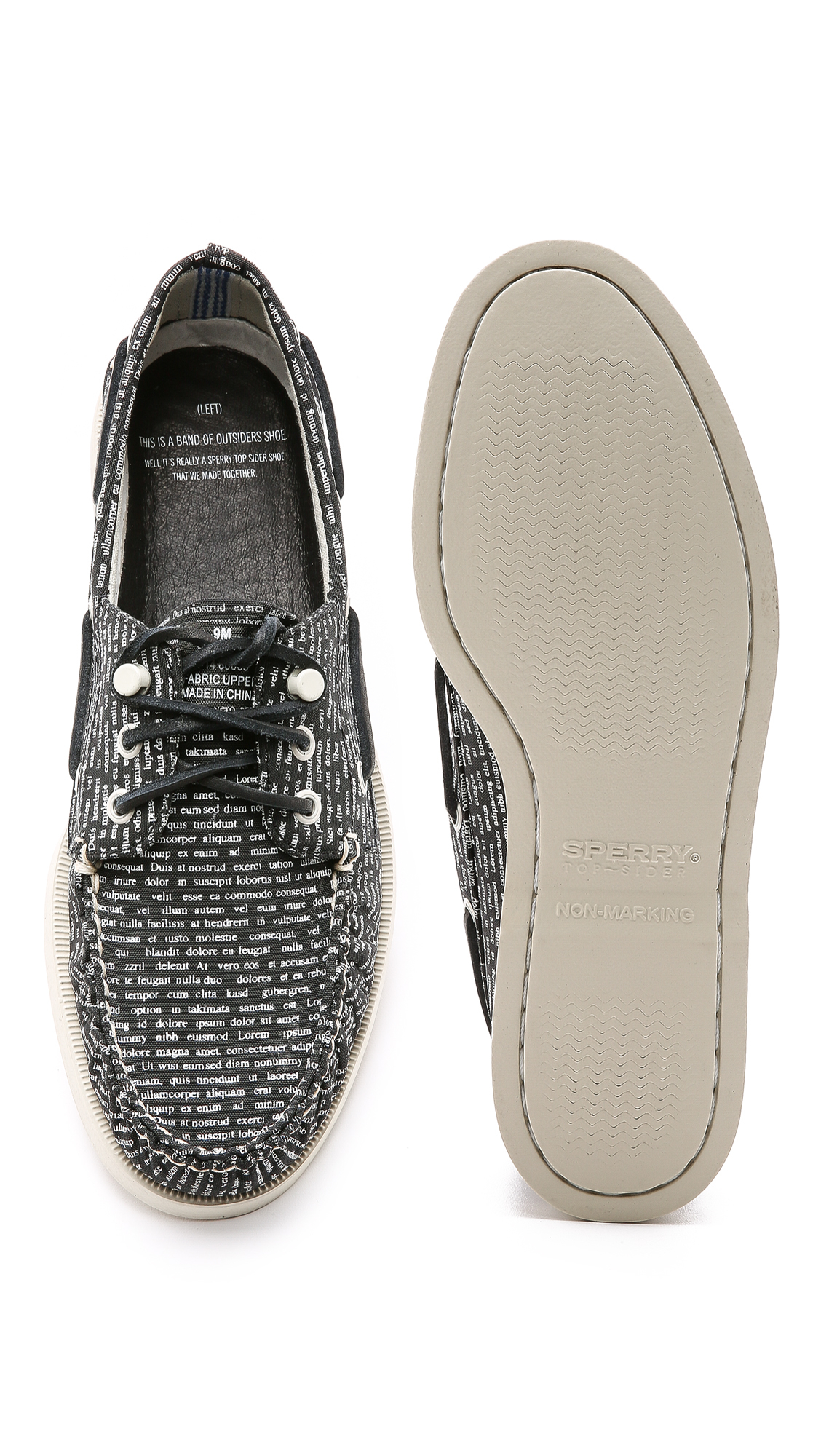 band of outsiders sperry top sider by a o literary boat