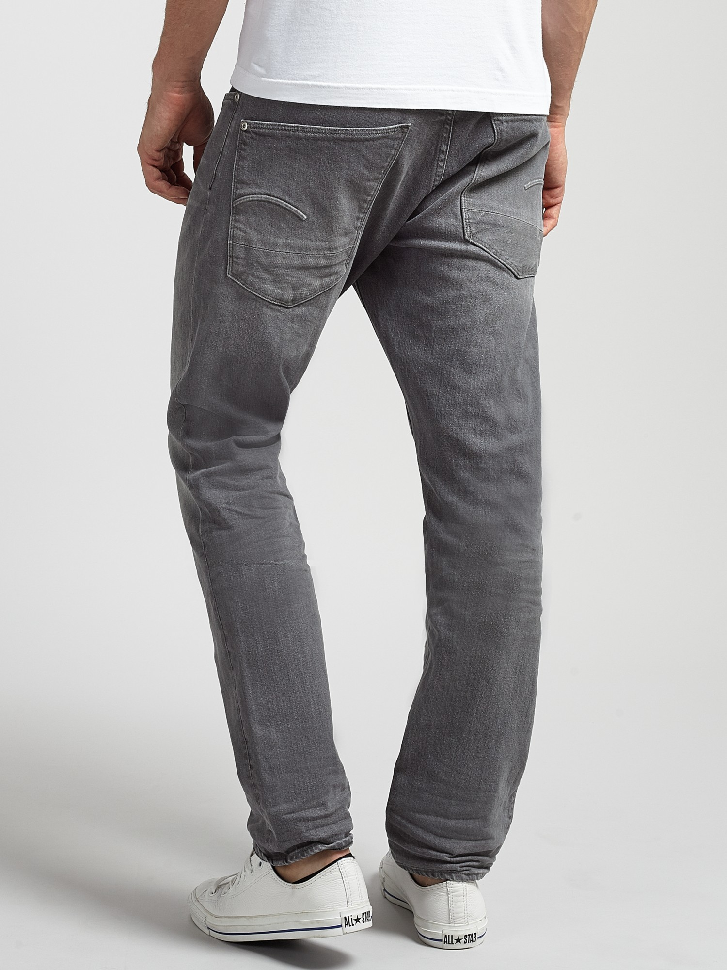 Raw Lyst Jeans Men G Tapered Star For Stean Gray In qxS57ISwz