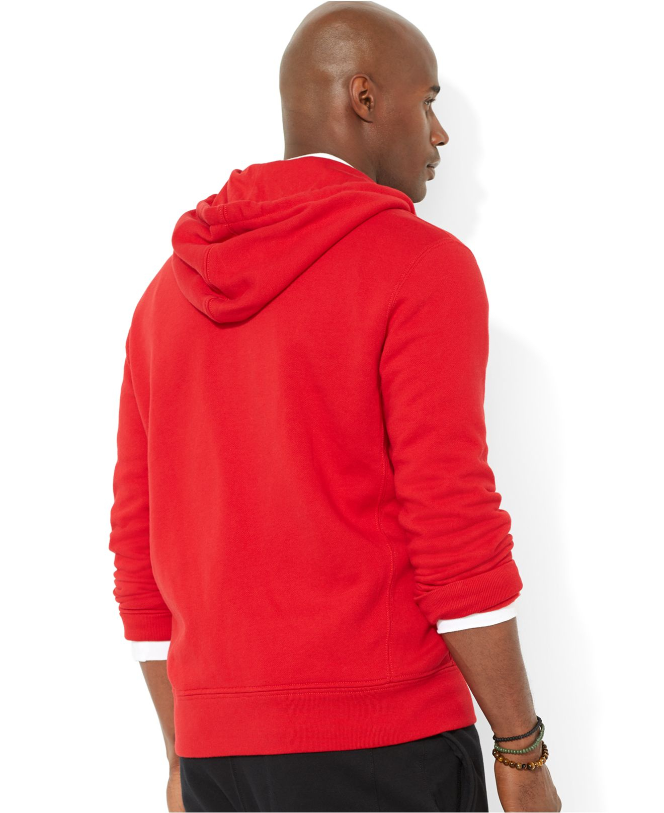 ... Men\u0026#39;S Ralph Lauren Big Pony Fleece Pullover Hoodie Red ...