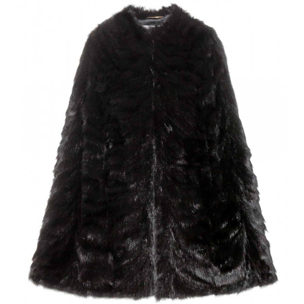 Lyst - Saint laurent Sable Fur Cape in Black for Sable Fur Cape  51ane