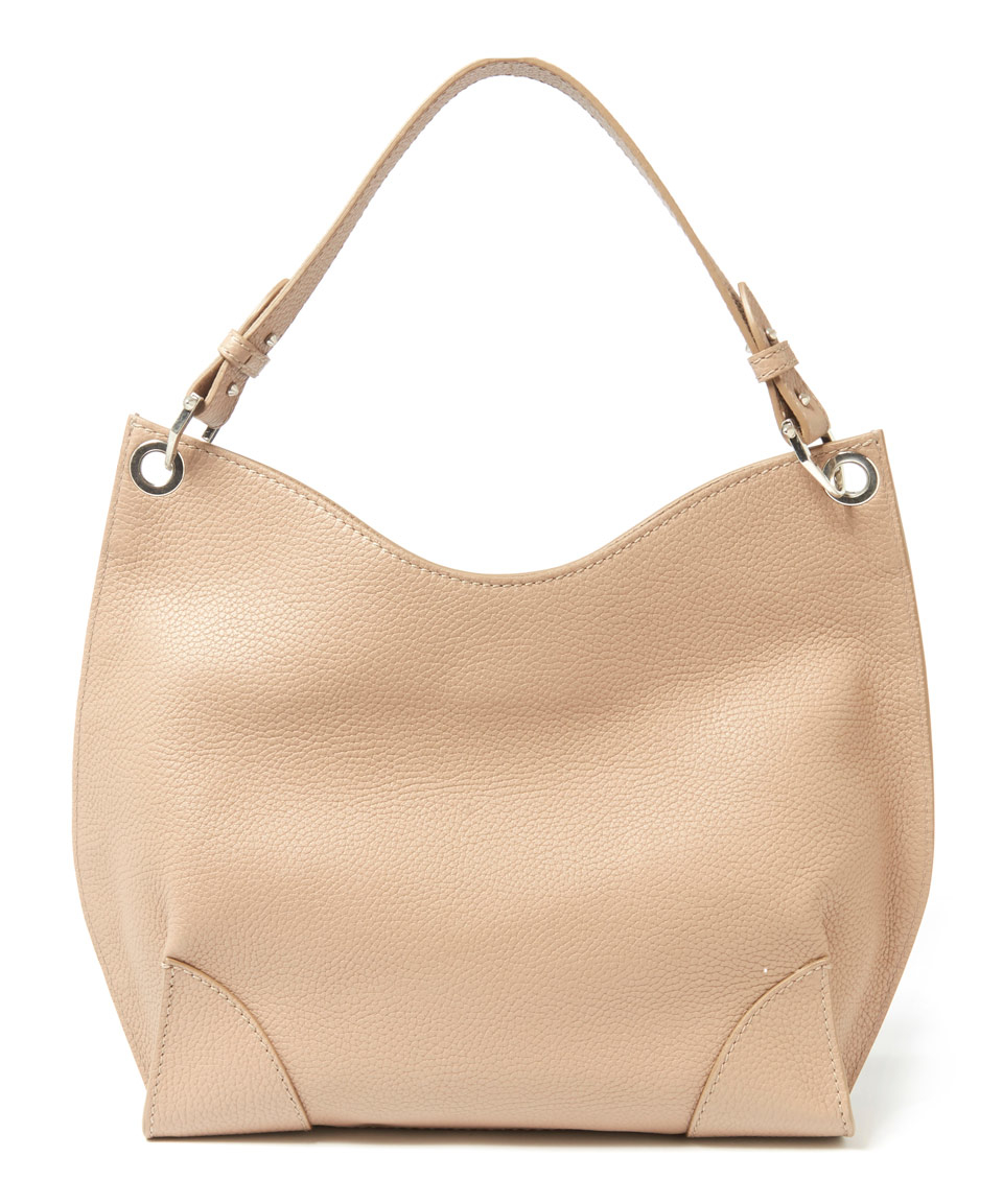 Alexander mcqueen Small Taupe Hobo Caribou Leather Bag in Natural ...