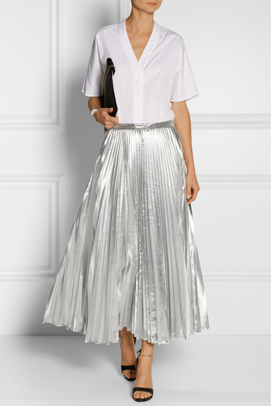 Silver Metallic Skirt 118