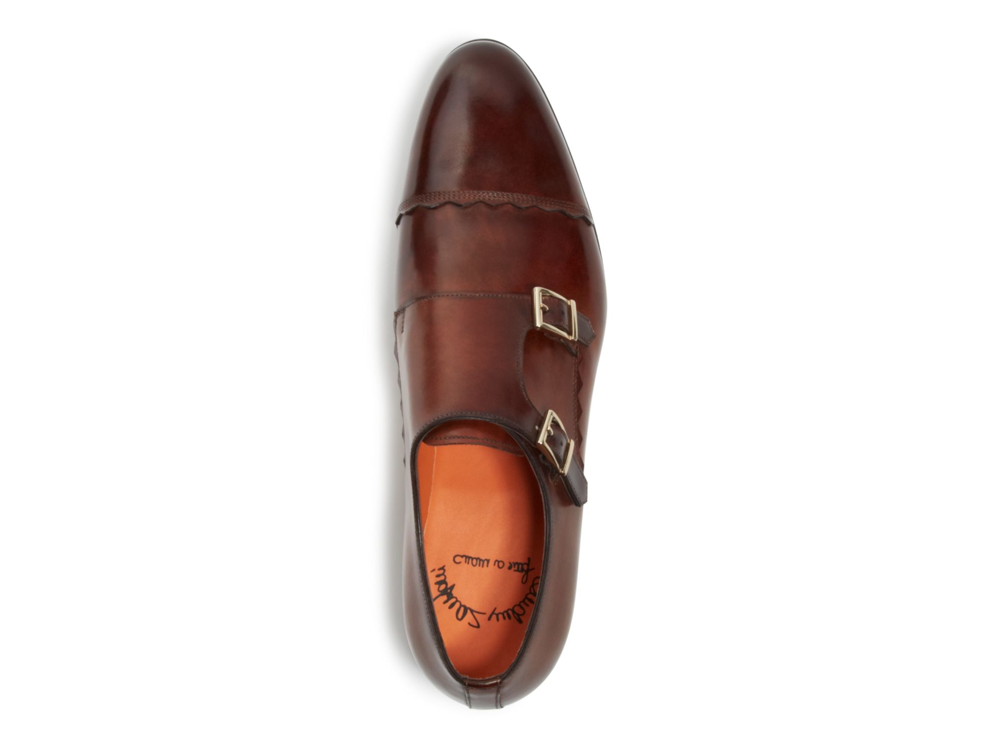 monk shoes - Brown Santoni X76cZxmt0
