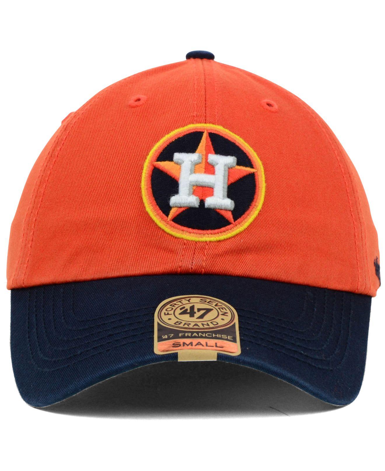 1847f0d4468e2 47 Brand Houston Astros Bp Franchise Cap in Orange - Lyst