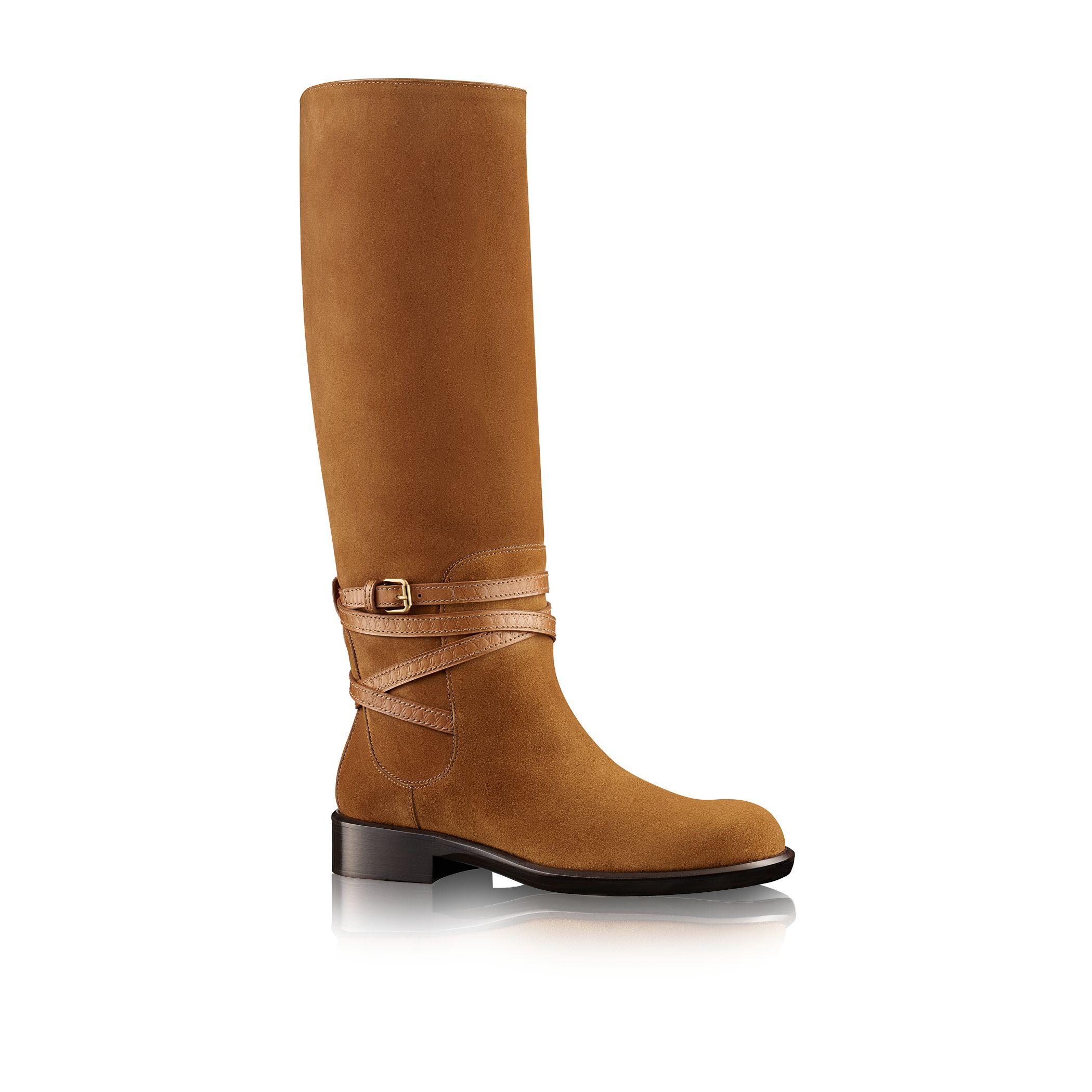 louis vuitton crossroads high boot in brown lyst