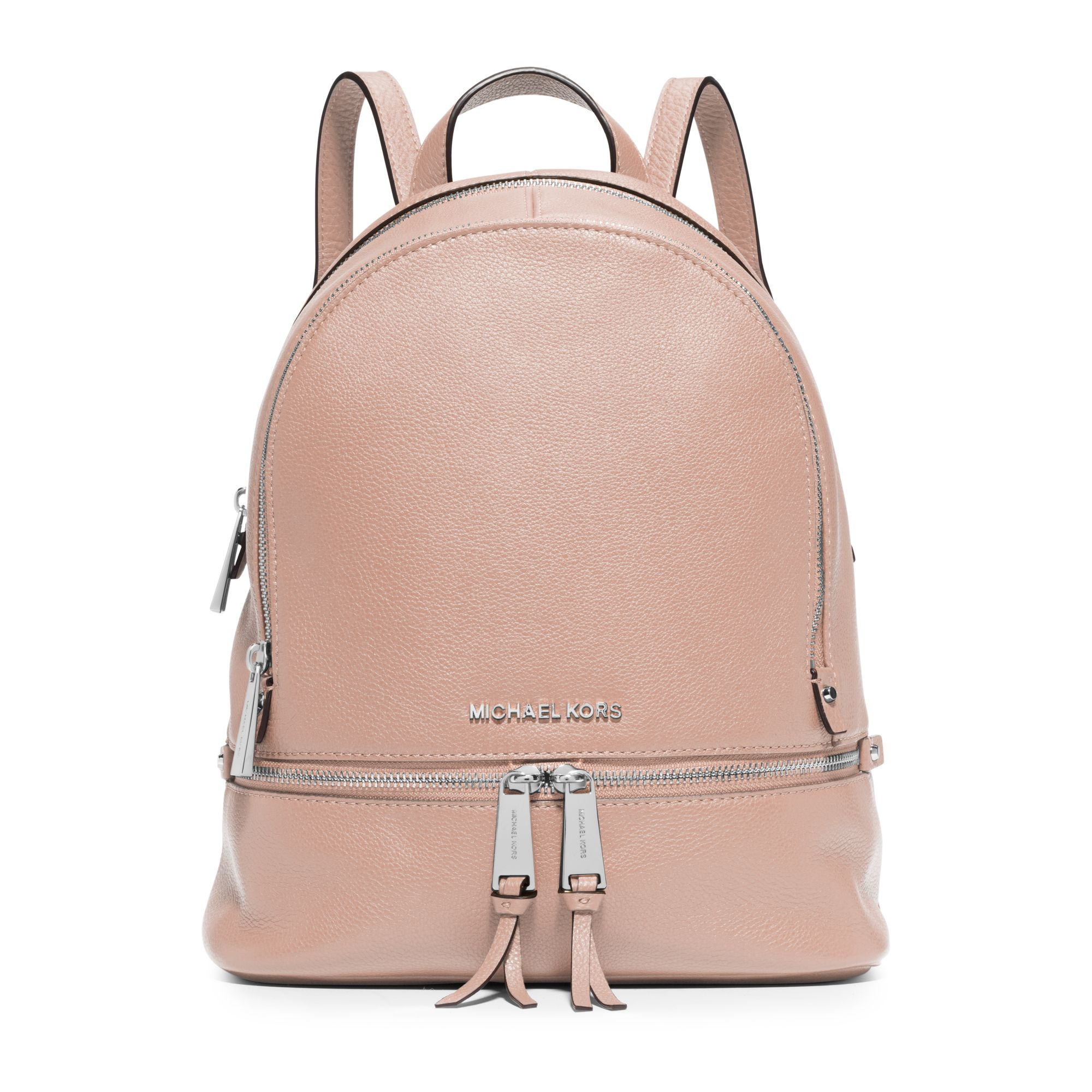 Michael kors Rhea Small Leather Backpack in Pink | Lyst
