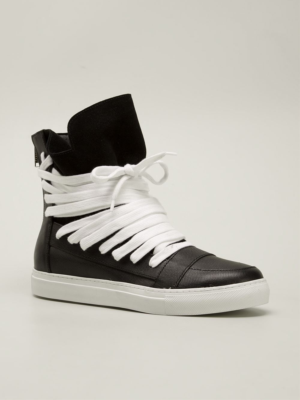 138b0490d1 Lyst - Kris Van Assche Panelled Hi-Top Sneakers in Black for Men