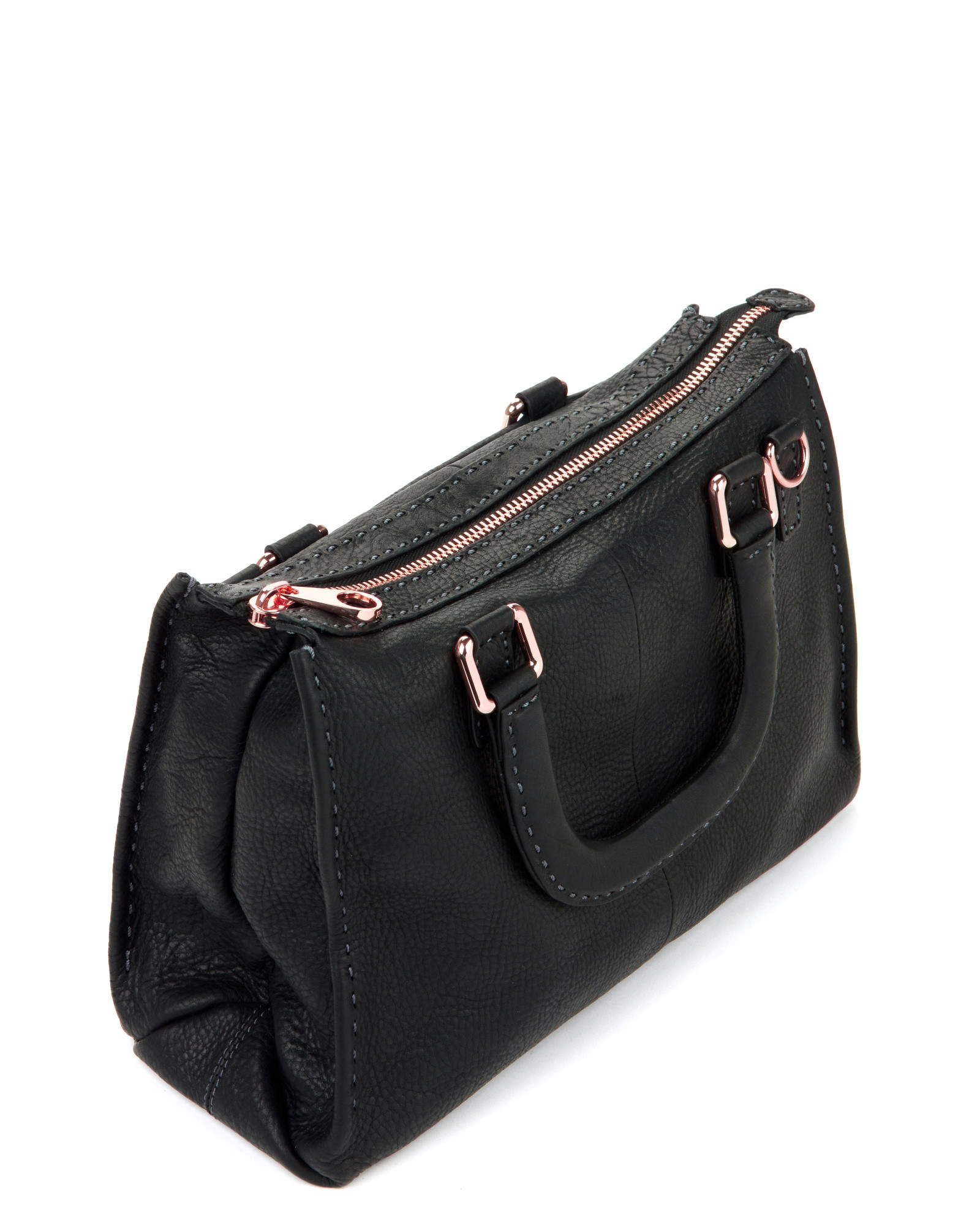 ted baker hickory leather tote in black lyst
