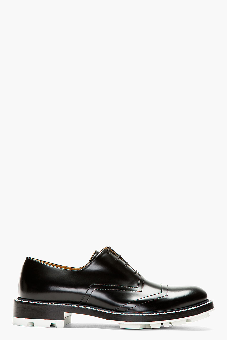 Jil Sander Black Buff Leather Lace Up Shoes In Black For Men Lyst