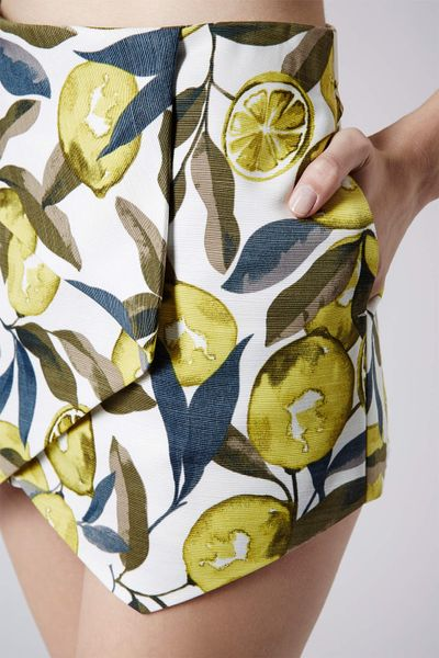 Topshop Petite Lemon Print