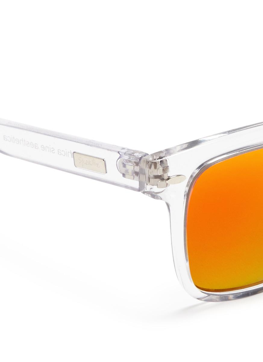 50d85668598 Lyst - Spektre Clear Acetate Mirror Sunglasses