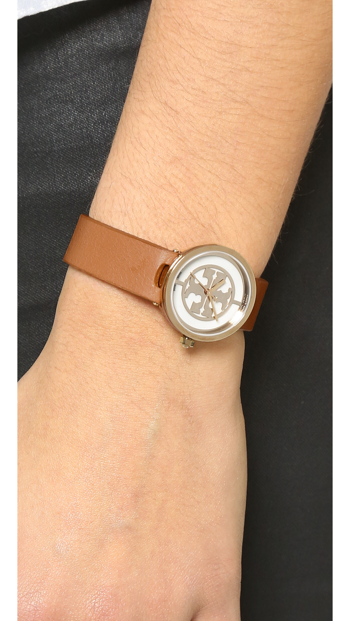 fbfbd635f Tory Burch Reva Watch in Metallic - Lyst