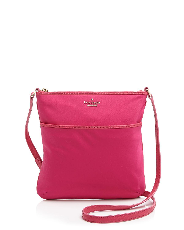 f65afb30654 Lyst - Kate Spade Crossbody - Classic Nylon Joni in Pink