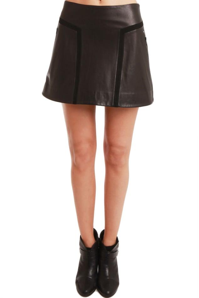 rag bone louise leather skirt in black lyst