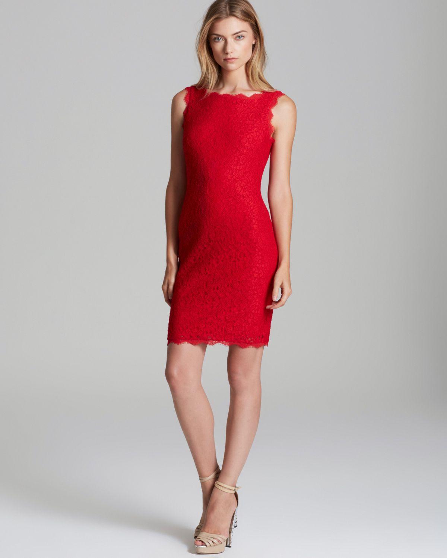 Red Sleeveless Cocktail Dress