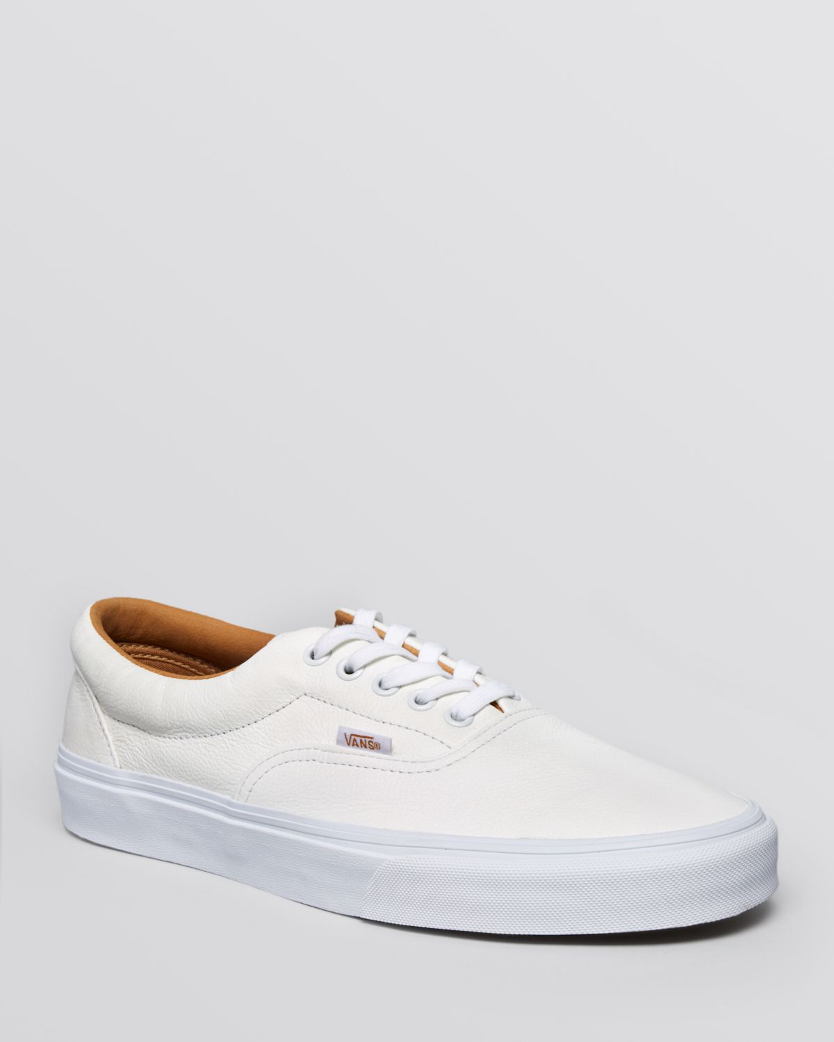 d96b5bf4b58a Lyst - Vans Era Premium Leather Lace-Up Sneakers in White for Men