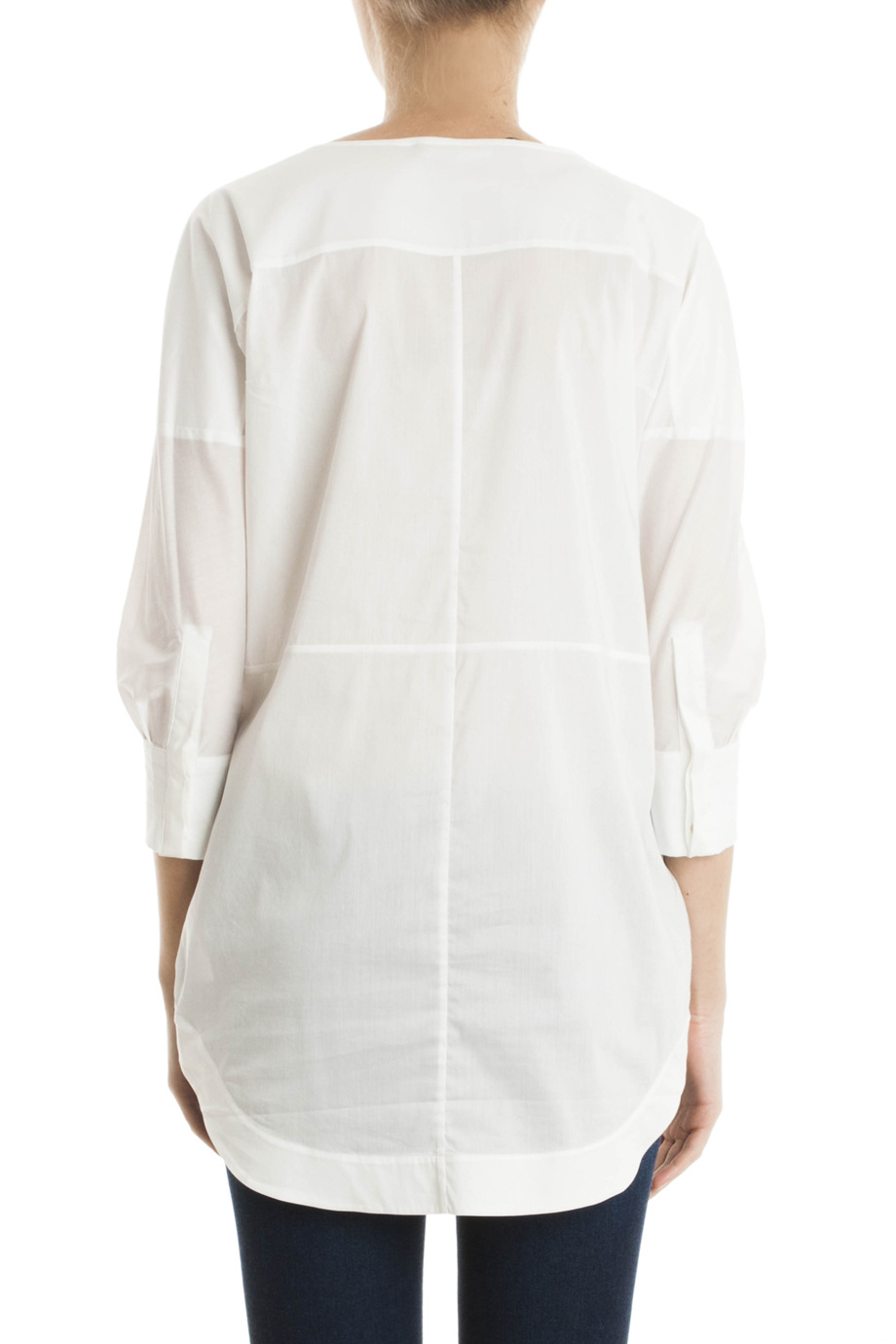 Lyst day birger et mikkelsen starch tunic in white for Starch on dress shirts