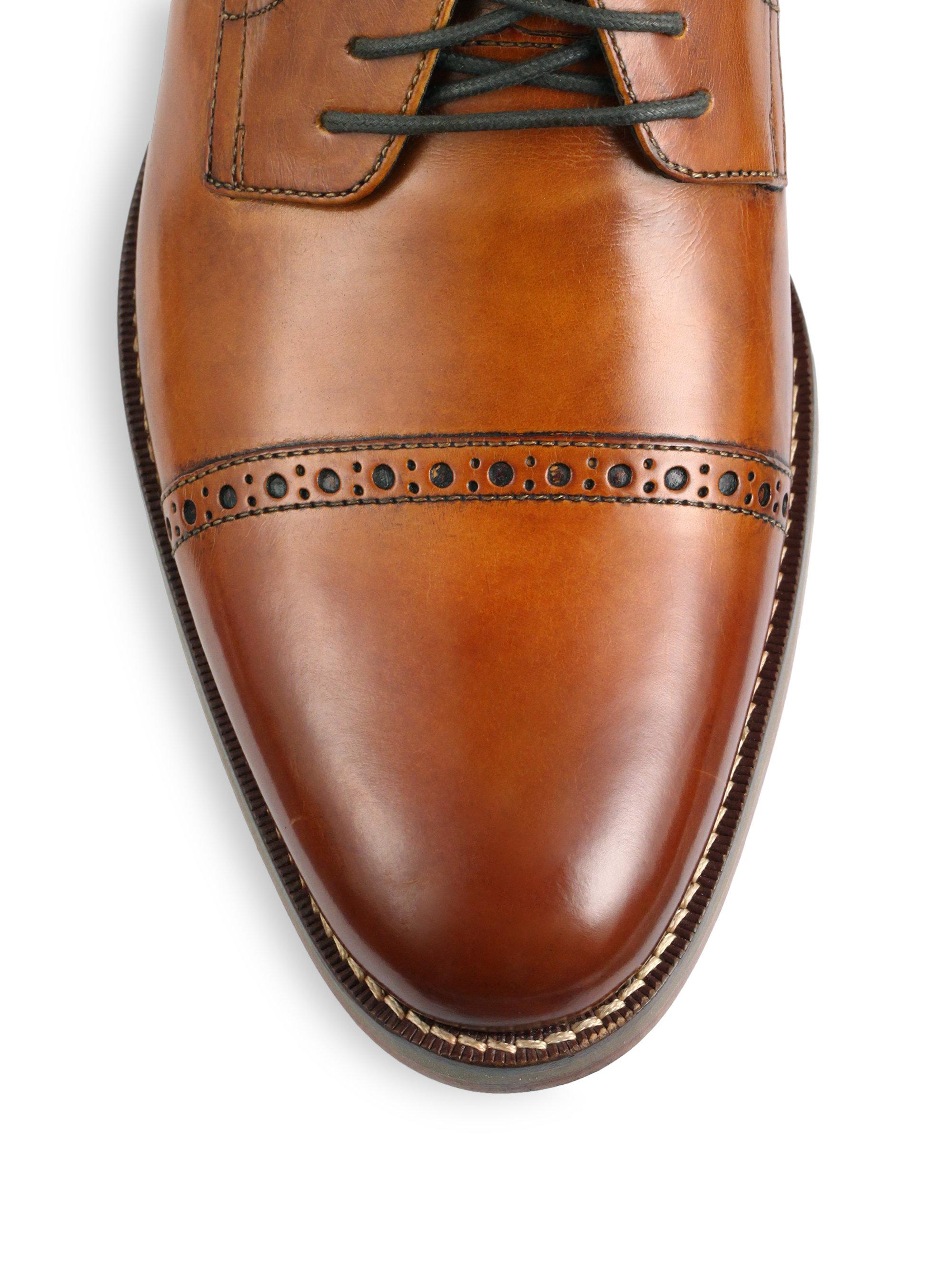 989c49feb40de0 Cole Haan Preston Cap-toe Lace-up Shoes in Brown for Men - Lyst