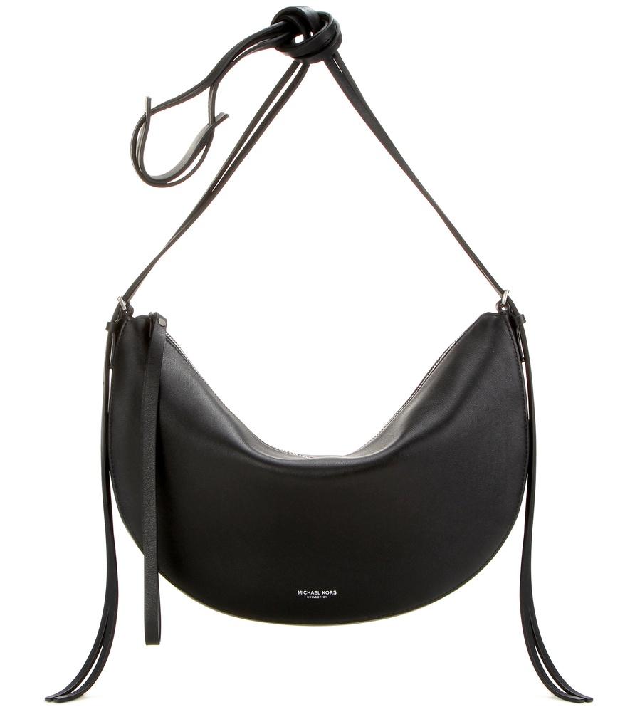 8bc65c6cd98cd ... new zealand lyst michael kors sedona medium leather shoulder bag in  black 4b581 b0c17