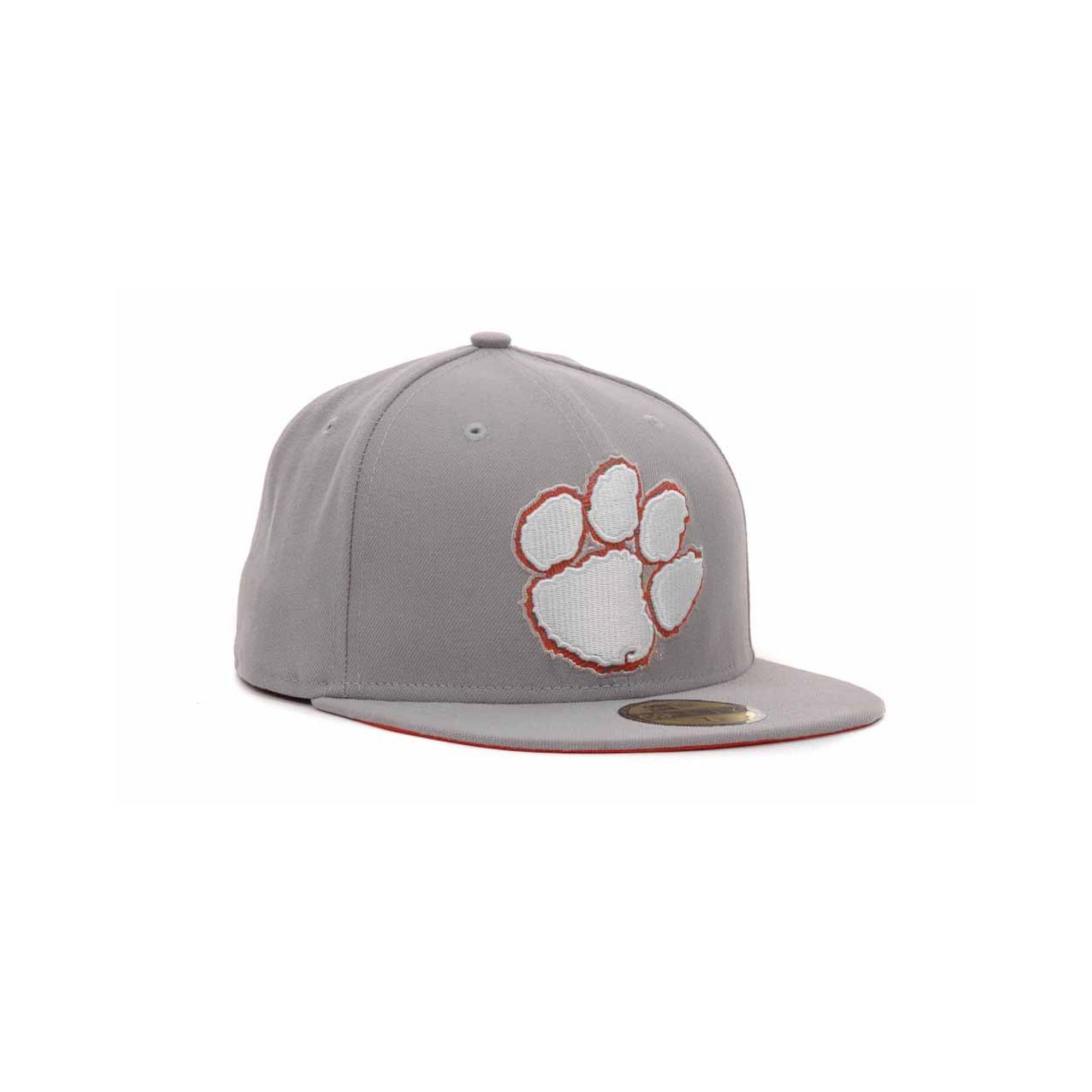 Clemson Fitted Hat: Ktz Clemson Tigers High Risk 59fifty Cap In Gray