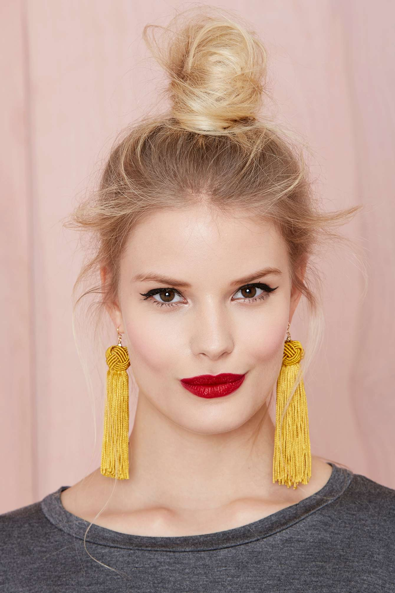 Lyst Vanessa Mooney Astrid Tassel Earrings In Yellow