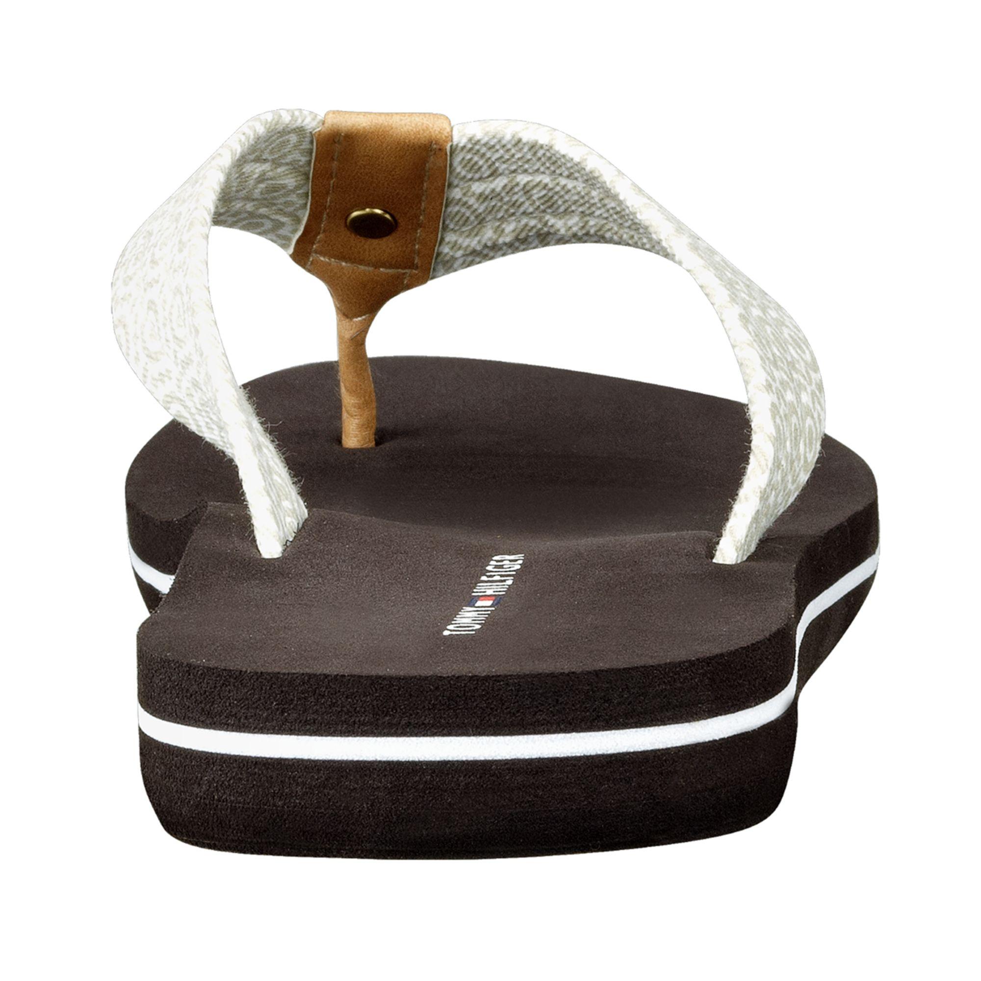 tommy hilfiger womens corrale flip flops in black lyst. Black Bedroom Furniture Sets. Home Design Ideas