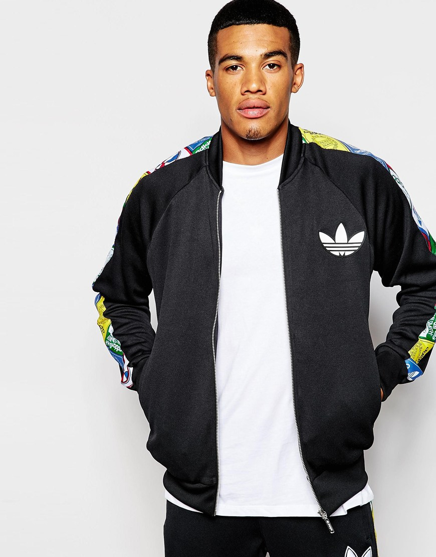 Adidas Originals Track Jacket With Label Taping Ab7692 In