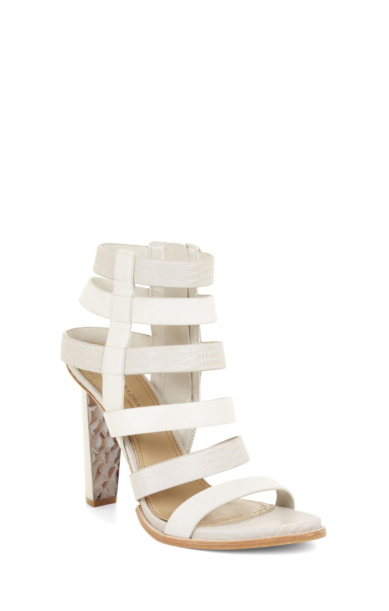 25bdff0de14d Lyst - BCBGMAXAZRIA Luke High-Heel Multi-Strap Day Sandal in White