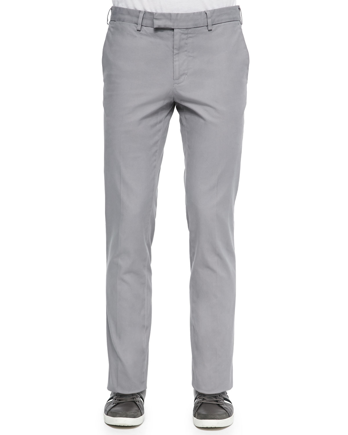 Vince Brushed Stretch Twill Pants in Gray for Men | Lyst
