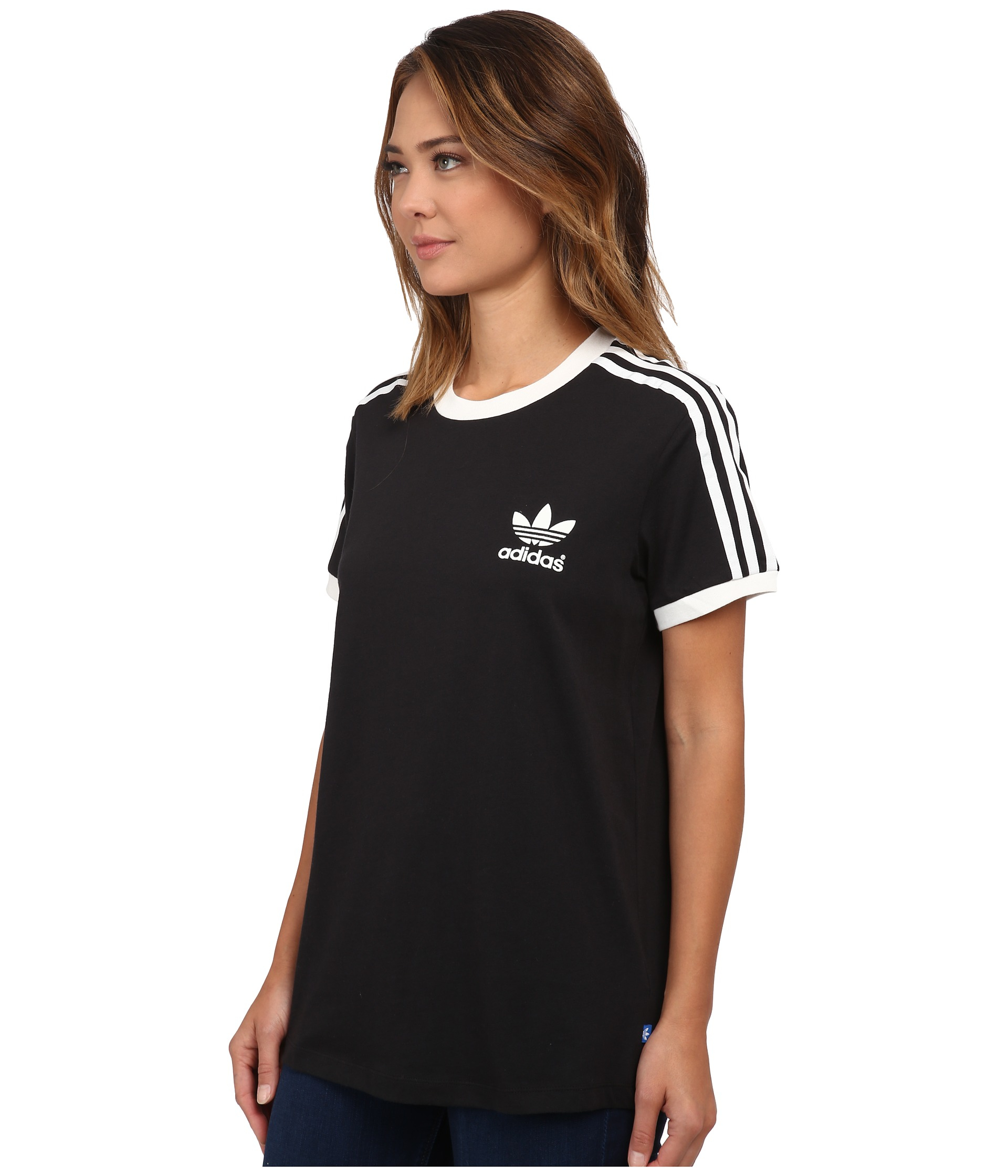 adidas original 3 stripe t shirt