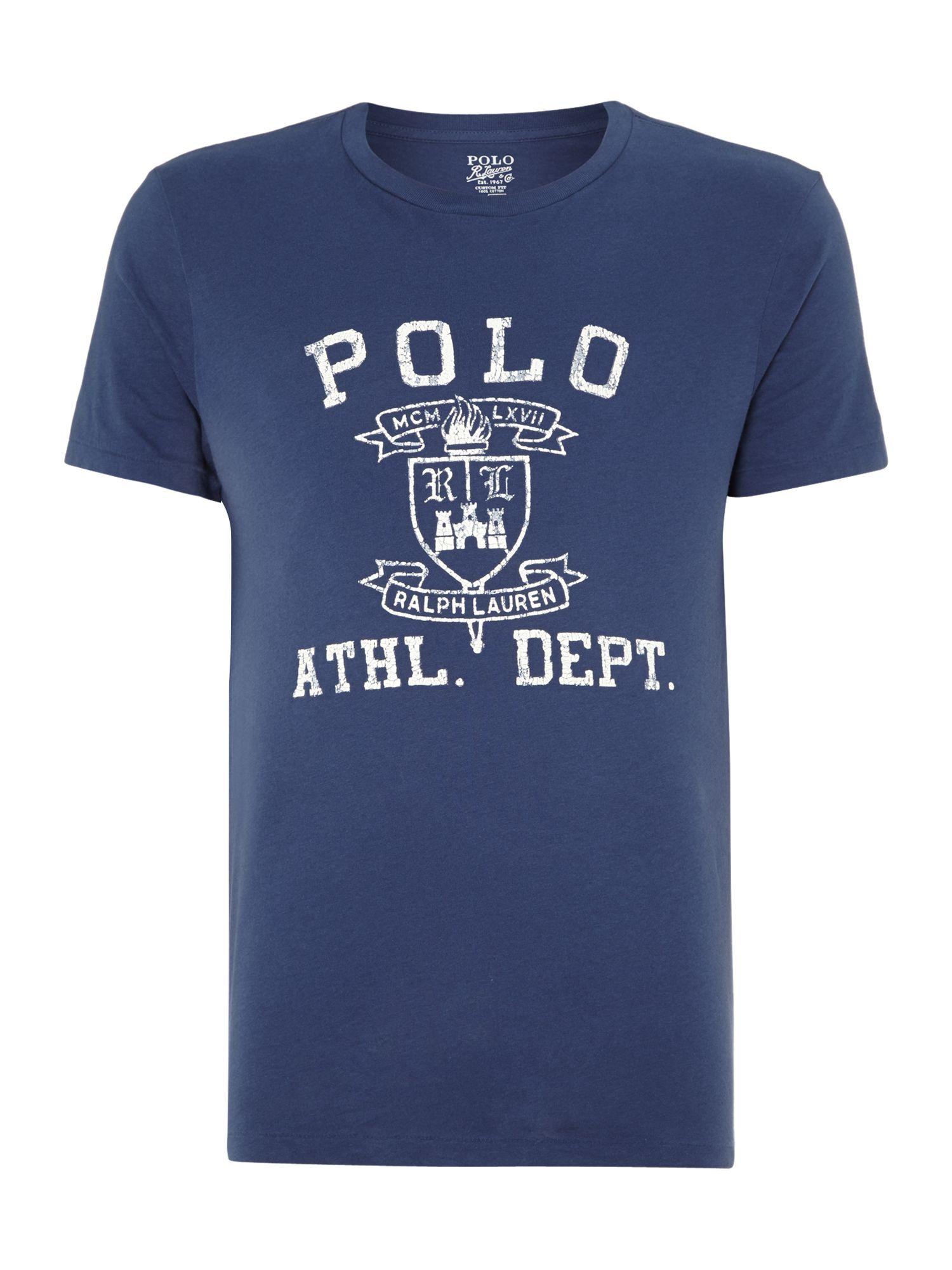 Polo ralph lauren polo athletics logo print custom fit t for Polo custom fit t shirts