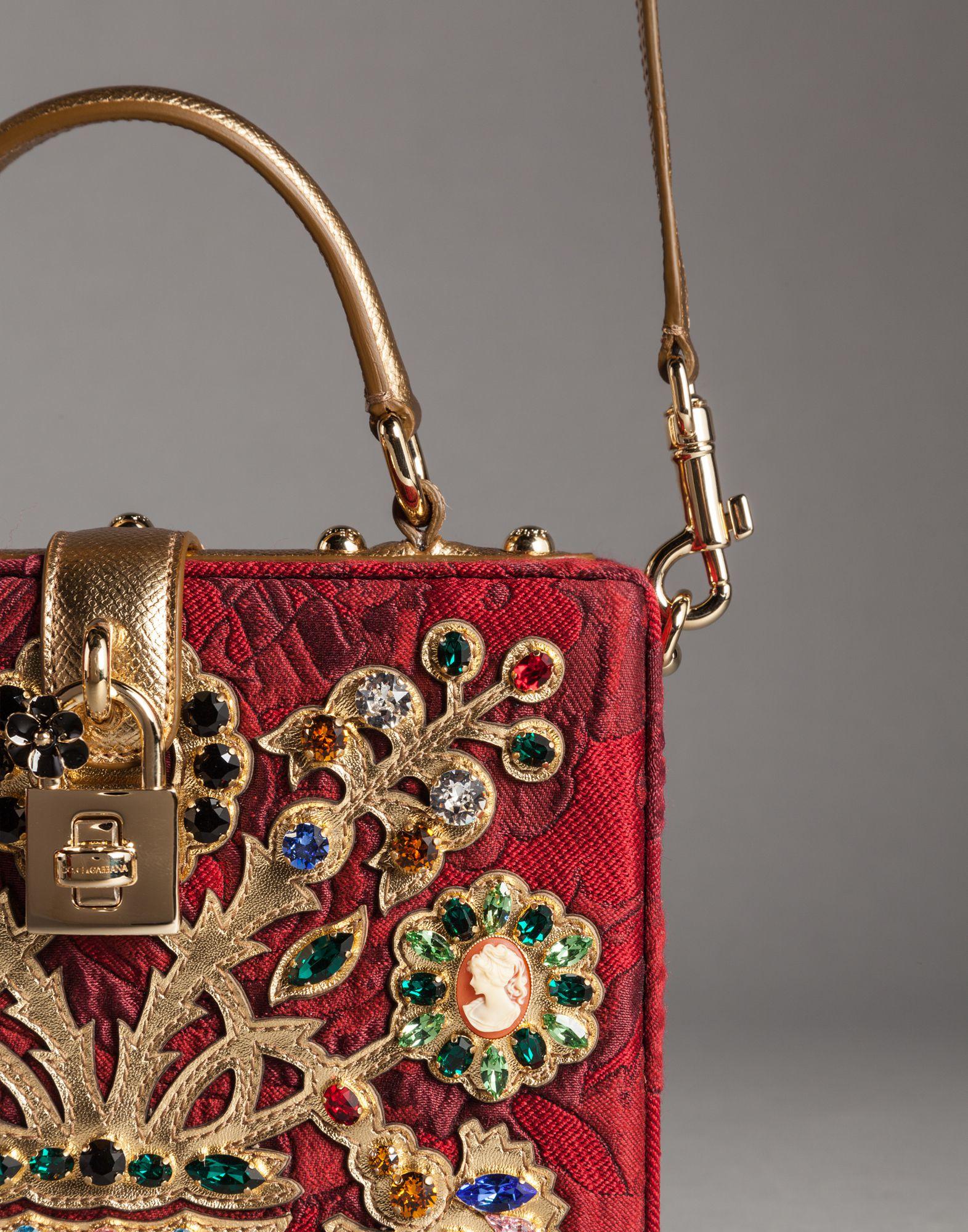 ad28cc29210d Dolce   Gabbana Filigree Tree Brocade Dolce Box Bag - Lyst