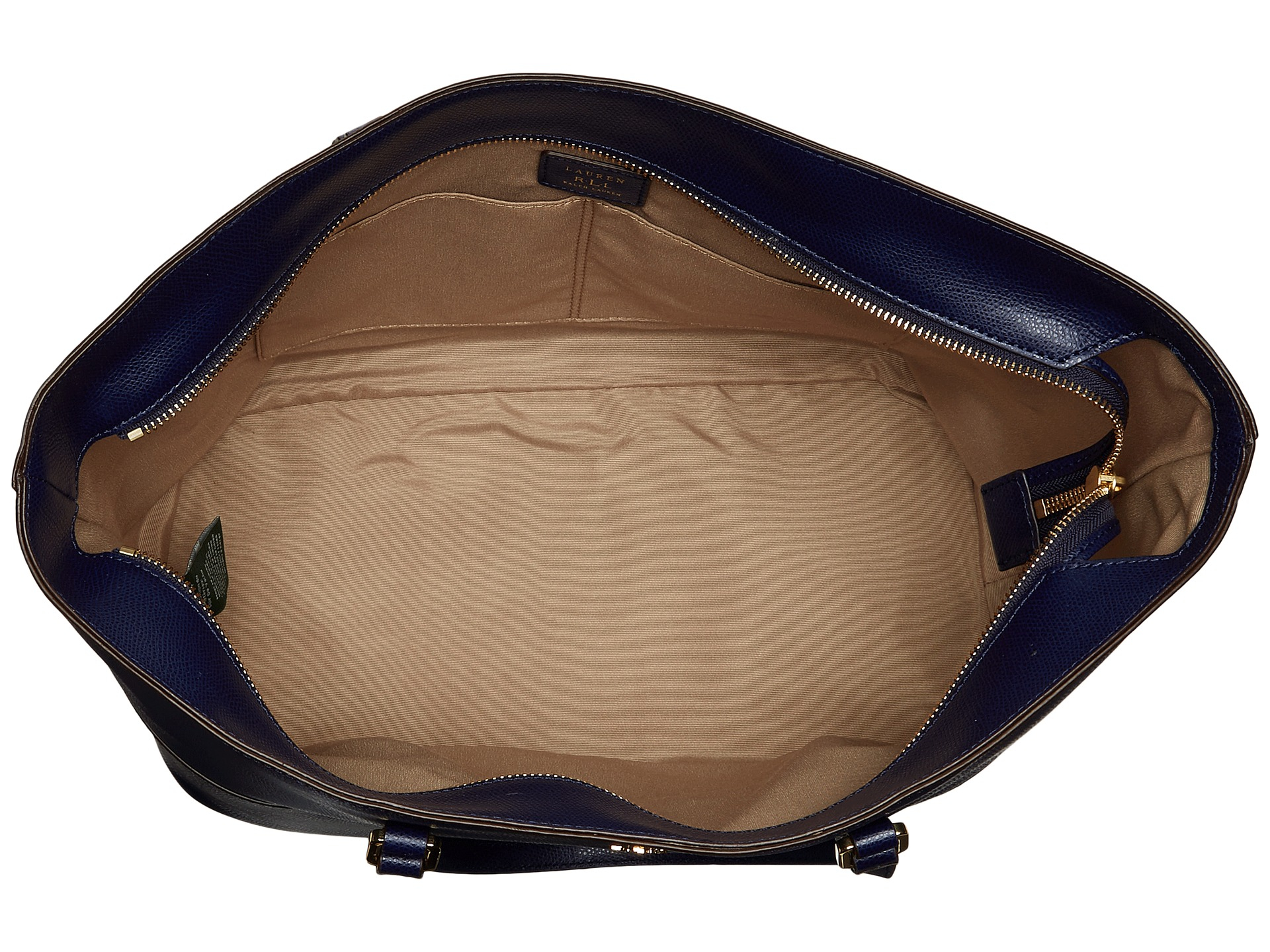 1031e85bcb ... buy lyst lauren by ralph lauren whitby pocket tote in blue 951b1 b5338