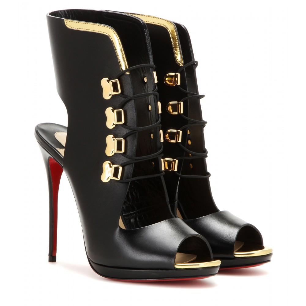 fd20b4ecebca Christian Louboutin Troubida 120 Embellished Boots in Black - Lyst