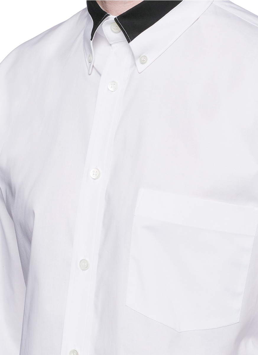 Alexander Mcqueen Contrast Collar And Cuff Poplin Shirt In