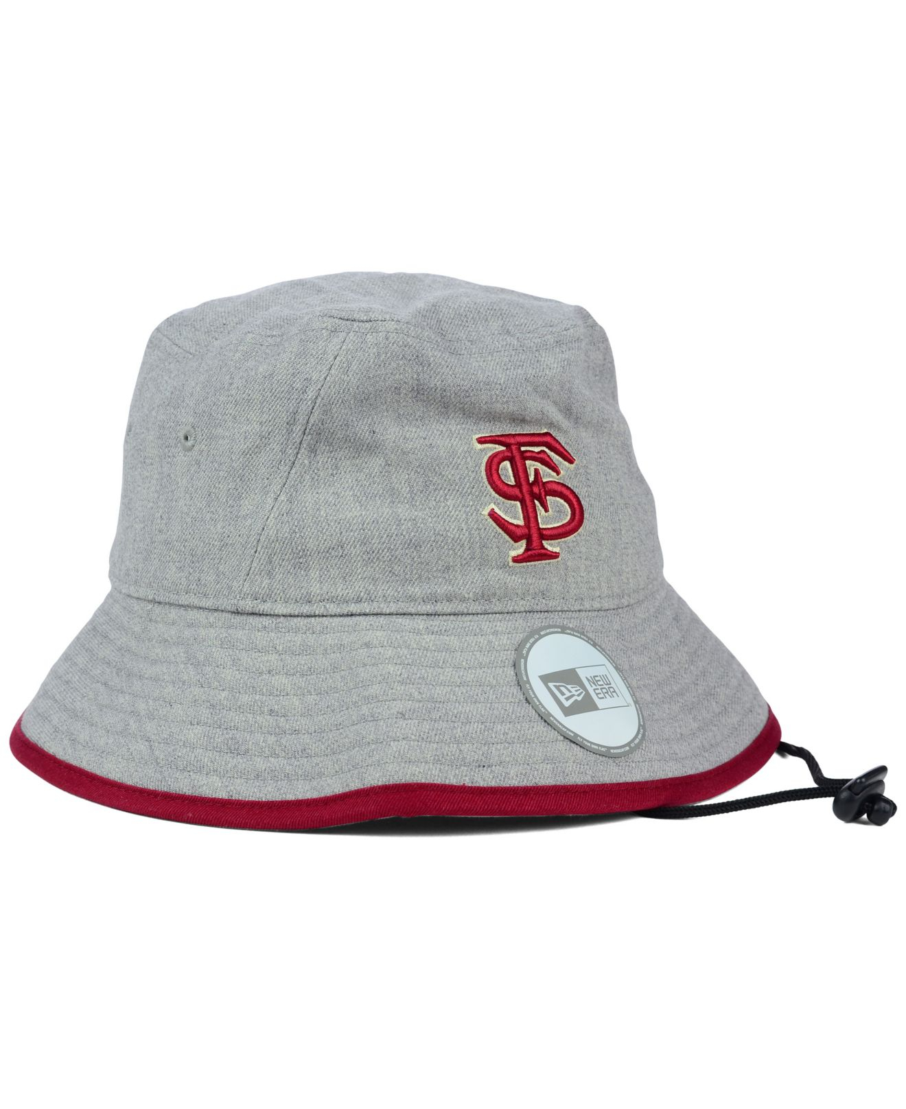 487799a5427fa ... norway lyst ktz florida state seminoles tip bucket hat in gray 6099d  2dded