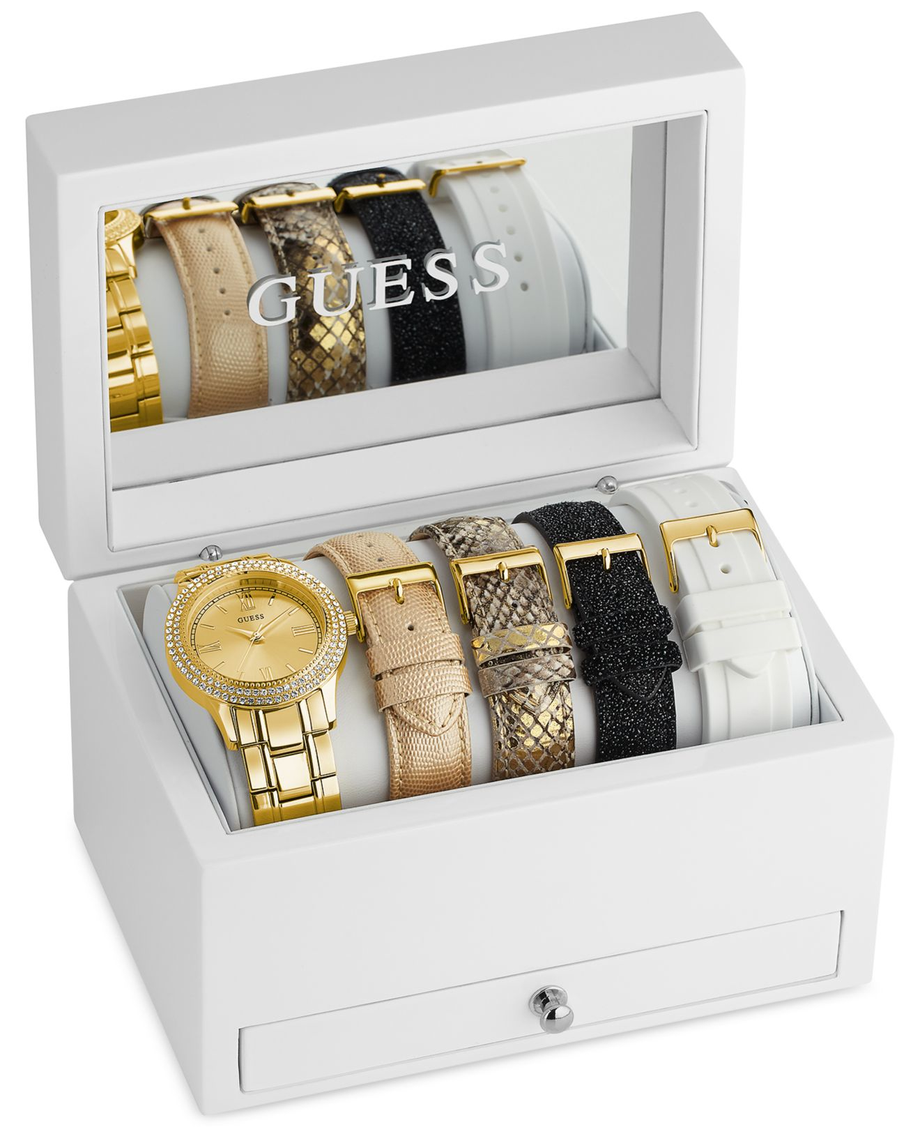 gallery watch interchangeable bezel bracelet lyst accessories metallic gucci gold in product normal