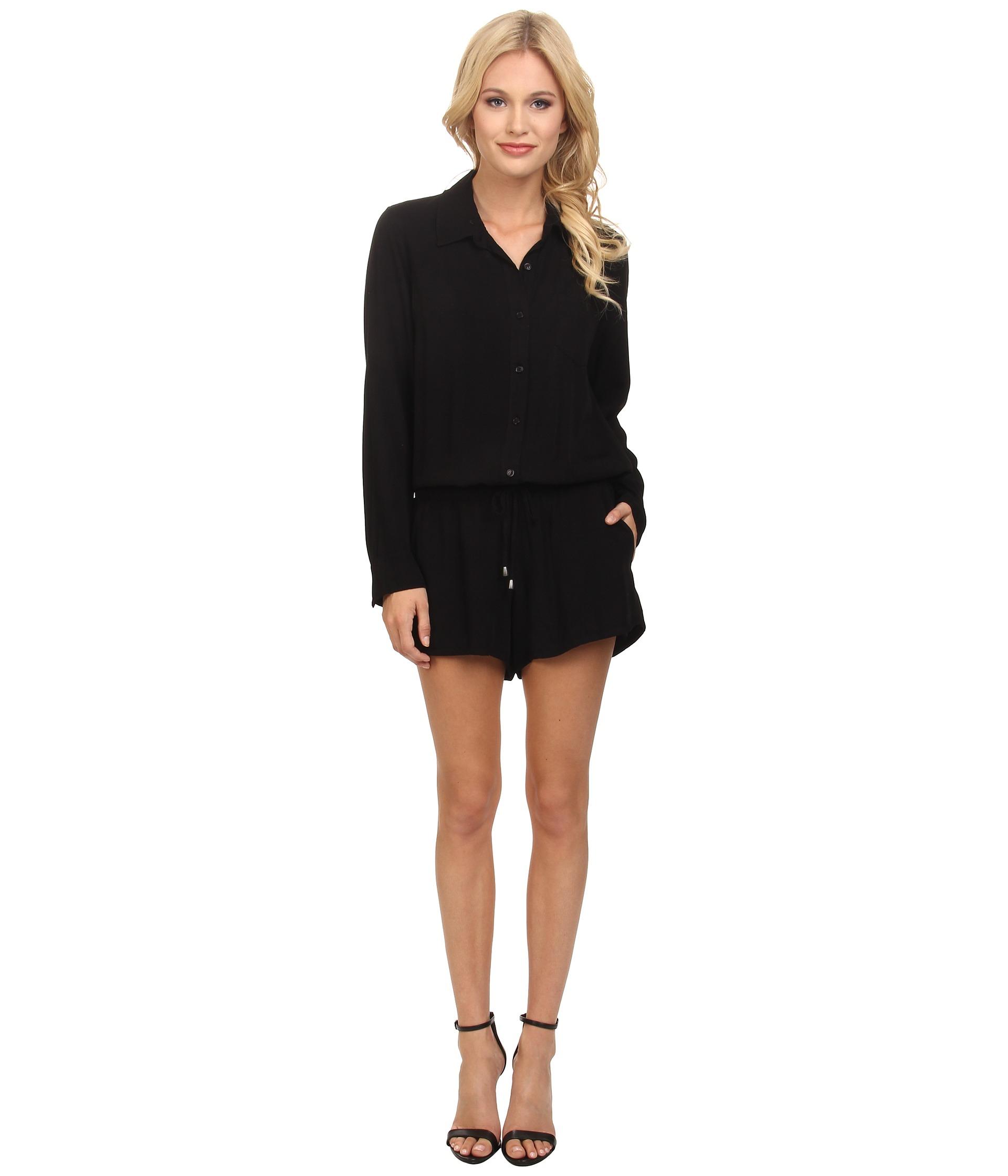 948a927af632 Lyst - Splendid Rayon Voile Jumpsuit in Black