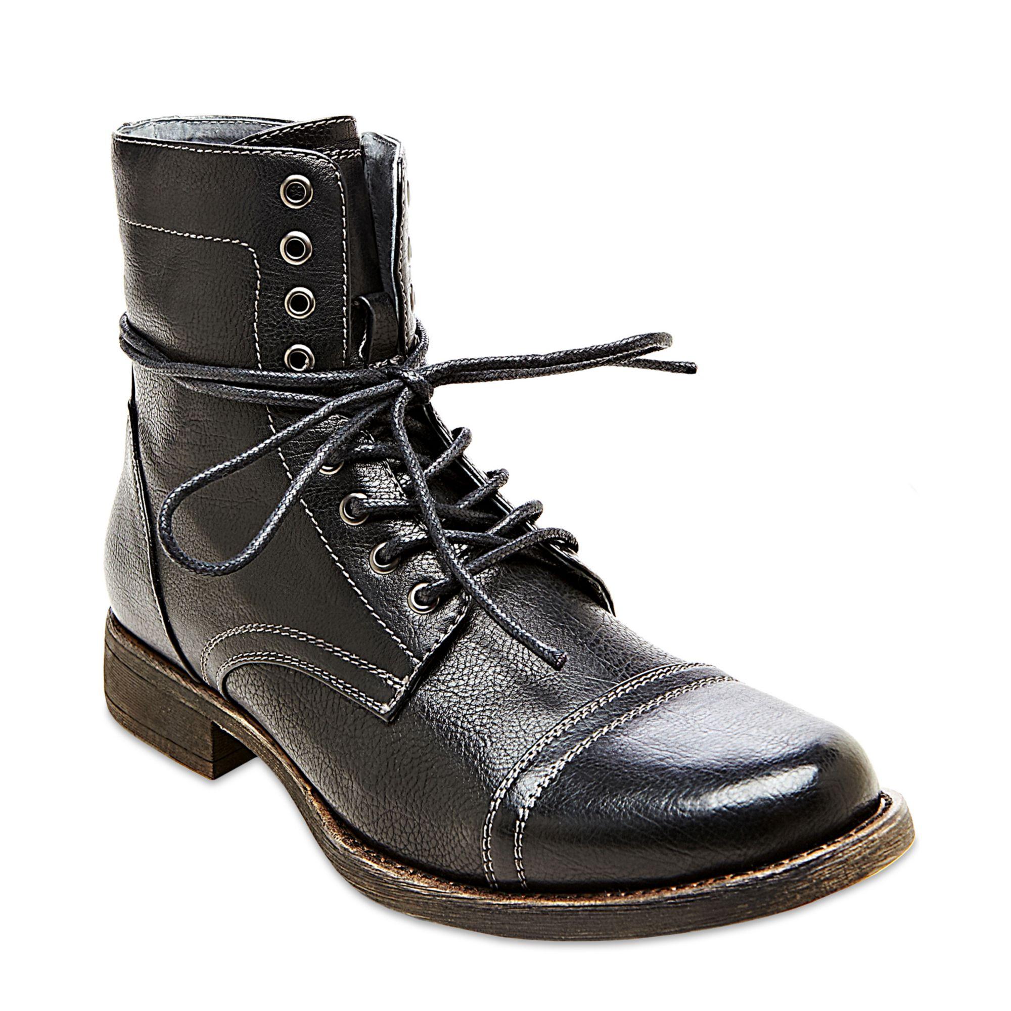steve madden madden tylerr boots in black for lyst