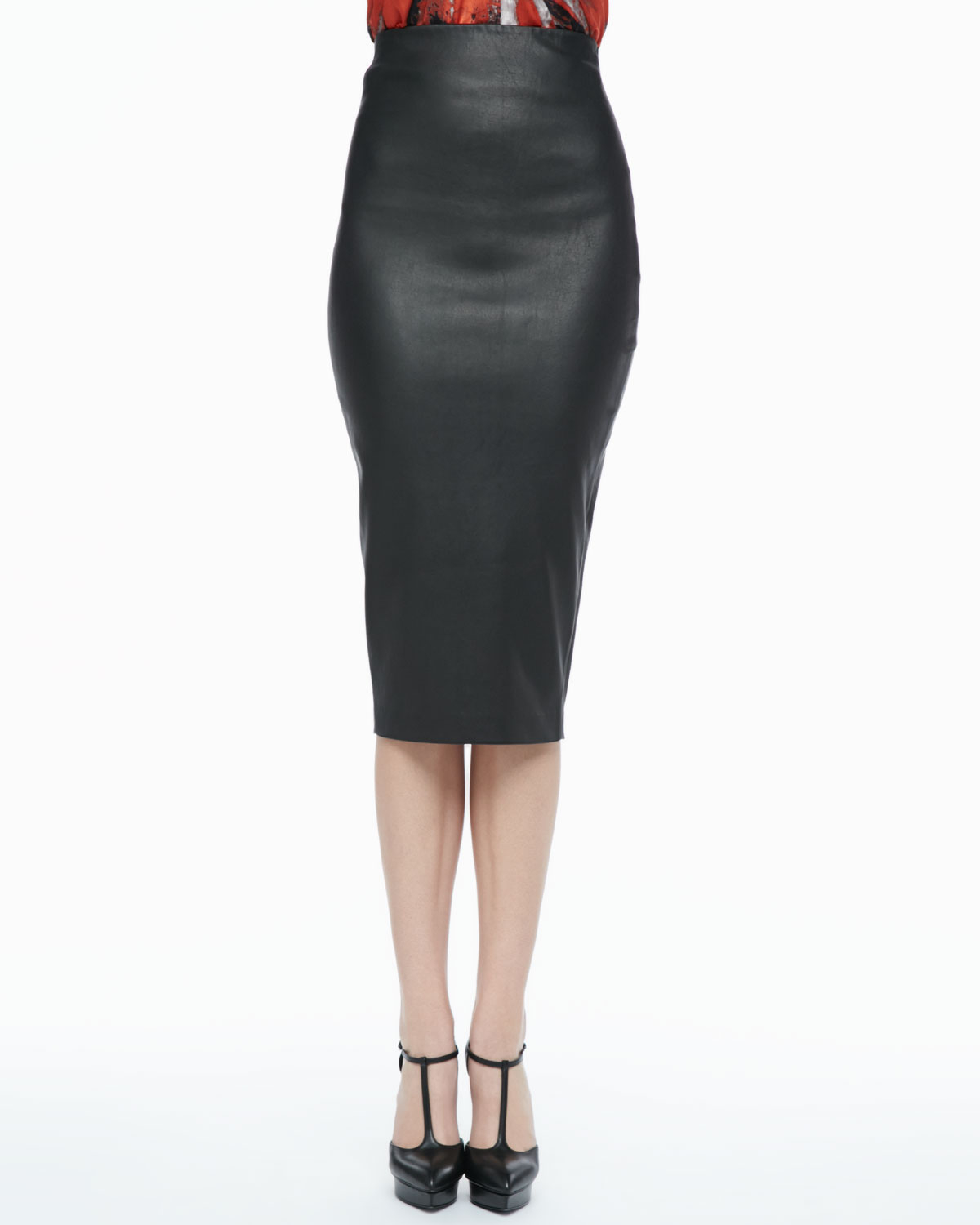 High Waisted Leather Pencil Skirt | Fashion Skirts